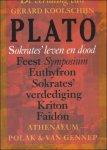 PLATO; - SOKRATES'  LEVEN EN DOOD. FEEST SYMPOSIUM. EUTHYFRON. SOKRATES' VERDEDIGING. KRITON. FAIDON,