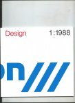Bernsen, Jens (Editor) - Design 1:1988. The European Design Prize 1988