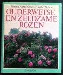 Kurpershoek, Mineke en Walter Verhue - Ouderwetse en zeldzame rozen. Met uitgebreide informatie over het planten en onderhouden van rozen.