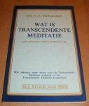 Wijngaards, Drs. N.W. - Wat is transcedente meditatie