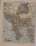 antique map (kaart). - Balkan-Schiereiland.