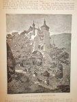 antique print (prent) - Het kasteel Kallinormis in Thessalie. (Thessalia).