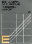 Diverse auteurs - THE JOURNAL OF EUROPEAN ECONOMIC HISTORY. Volume 12, Number 1, Spring 1983