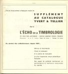 Tellier et Yvert - Catalogue de timbres-poste 1980 tome 3 Timbres D'outre-Mer