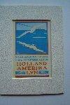 Holland Amerika Lijn (HAL) - Mini-Affiche van de Holland Amerika Lijn (reproductie) in passe-partout.