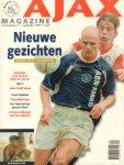 Ajax Magazine - Ajax Magazine, 13e jaargang nr. 1 september 1999 t/m nr. 8 juni 2000, magazines komen in een speciale bewaarmap, goede staat