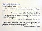 Billetdoux, Raphaële - Lettre d'excuse (FRANSTALIG)