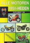 Vos, Ruud - Alle Motoren 1951 - Heden, Supplement 1995 (inklusief grijze modellen), 64 pag. paperback, gave staat