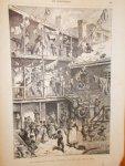 antique print (prent) - Eene binnenplaats in een achterbuurt in New-York.