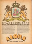 Diverse auteurs - Aloha 1970 nr. 24, 20 maart tot 3 april, Dutch underground magazine met o.a./with a.o.  QUICKSILVER MESSENGER SERVICE (recensie Shady Grove),  FRANK ZAPPA (recensie Burnt weeny sandwich),  PINK FLOYD (recensie Best Of), zeer goede staat