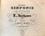 Beethoven, Ludwig van: - [Op. 36. Arr.] Deuxième Sinfonie Oeuv. 36 en Re maj (D dur). Pour le piano-forte à quatre mains par F. Mockwitz
