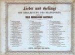 Mendelssohn, Felix: - [Konvolut von 12 Liederhefte] Lieder und Gesänge mit Begleitung des Pianoforte. No. 6, 9, 10, 12, 15, 20, 21, 22, 31, 34, 35, 39