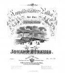 Strauss, Johann (Sohn): - [Op. 168] Leopoldstädter Polka für das Pianoforte. 168tes Werk