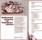 - Los inlegvel 'Boekenweekverrassing van Nederlandse orkesten'