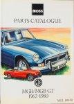 Moss - MG MGB / MGB GT Moss parts catalogue 1962 - 1980   MGL0003B