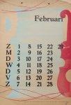 Berg, Siep van den - Kalender 1948 - februari/February