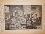 antique print (prent) - Een japans theekransje.