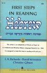 Richards, I.A., Weinstein, D., Gibson, C. - First steps in reading Hebrew