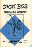 Mazure, Alfred - Dick Bos No. 62. Erfgenaam gezocht. Detective beeldverhaal