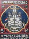 Sneldienst  Holland-Friesland - Affiche Holland - Friesland  (38,3 x 27 cm)