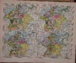 map. kaart. karte. - Historische Karten von Deutschland II.
