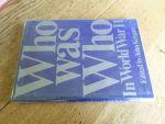 Keegan, John (edited by) - Who was who in world war II