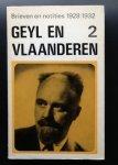 Pieter Geyl - Geyl en Vlaanderen 2    Brieven en notities 1928/1932