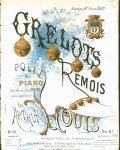 Louis, Arthur: - Grelots polka pour piano avec accompt de Grelots placés au pied droit. Op: 50