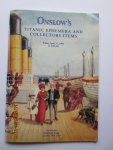 Bogue, Patrick & Jenkins, John (directors) - Auction Catalogue : Onslow's Titanic Ephemera and Collectors Items. For Sale Friday, April 17, 1998 at 2.00 pm.