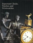 Sotheby's, - Important Clocks, Watches and Wristwatches.