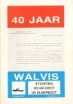 Boer, M. de (eindredactie) - 40 Jaar IJsbreker Walvis, 36 pag. kleine, geniete softcover, goede staat