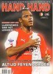 Diverse auteurs - HAND IN HAND nr. 03  , november 2010 , seizoen 2010-2011 ,  Jaargang 34 , Uitgave van Feyenoord Supportersvereniging met o.a.  ANDRE BAHIA/HISTORISCH ABC/DRAMATISCHE SEIZOENSTART/LUNATICS , softcover , goede staat