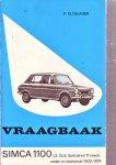 p.olyslager - Vraagbaak Simca 1100 LS, GLS, Spécial En TI Coach, Sedan En Stationcar 1972-1974
