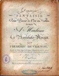 Duvernoy, Frédéric: - Deuxième fantaisie pour piano et cor ou violon dédiée à madame La Maréchale Moreau