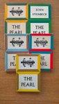 Steinbeck, John - The Pearl + vocabulary (engels-nederlands) : vrolijke set van 5 verschillend gekleurde boekjes