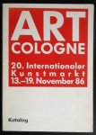 redactie - Art Cologne. 20. Internationaler Kunstmarkt. November 86. Katalog.