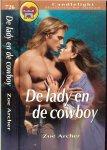 Archer Zoe Vertaling  Marielle Wanrooy-Snel - De lady en de Cowboy  Candlelight Historische roman  726