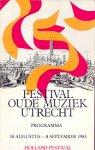 Auteurs (diverse) - Programma Holland Festival Oude Muziek Utrecht 1986
