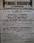 (zaanstreek). - Openbare Verkooping te Zaandam (..). Pakhuis genaamd Asia (..), Woon en winkelhuis (..) Czaar Peterstraat 73 (..).