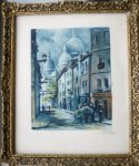 antique print (prent). - Le Bailly. Paris. Rue Chevalier de la Barre.
