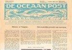 - De Oceaanpost Tiende Jaargang Uitreis no. 1 Johan van Oldenbarnevelt 31 December 1938