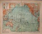 antique map (kaart). - Stiller Ocean (pacific ocean).