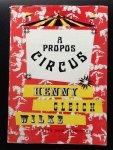 Dixhoorn, Frits van - A propos circus  Wilke Henny Gleich