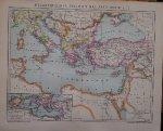 antique map (kaart). - Byzantinisches Reich um das Jahr 1000 N. Chr.
