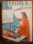 Servaes, Anke - Nora's conflicten - met platen en omslagtekening van Corrie van der Baan - derde druk