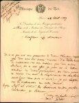 Paër, Ferdinand: - [Eigenh. Brief mit Ort, Datum und Unterschrift]
