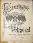 Deelman, L.H.: - Groninger-Volkslied. Gedicht van S.R. Oomkens. Eenigszins gewijzigd voor zang en piano of gem. koor. Gecomponeerd door L.H. Deelman. 2e herz. en vermeerderde druk