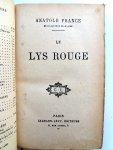 France, Anatole - Le lys rouge (FRANSTALIG)