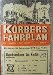red. - Korbers Fahrplan fur den Kanton Bern und die angrenzende Gebiete.
