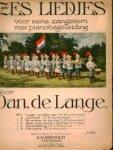 Lange, Daniël de: - Zes liedjes voor eene zangstem met pianobegeleiding